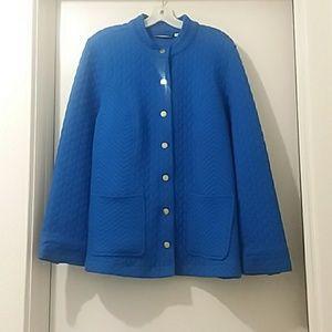 ISAAC MIZRAHI LIVE jacket blue 1X